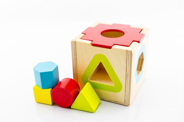 Wooden toy for baby Premium Photo
