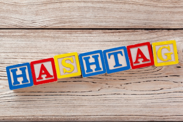 Wooden toy blocks with letters Premium Photo