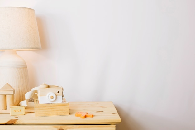 Wooden toys in nursery Free Photo