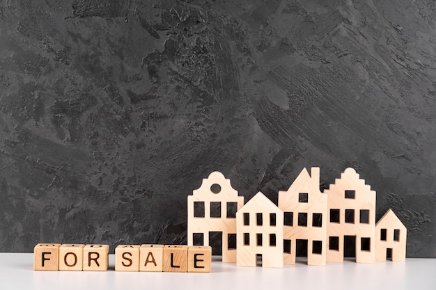 Wooden urban city model for sale Free Photo