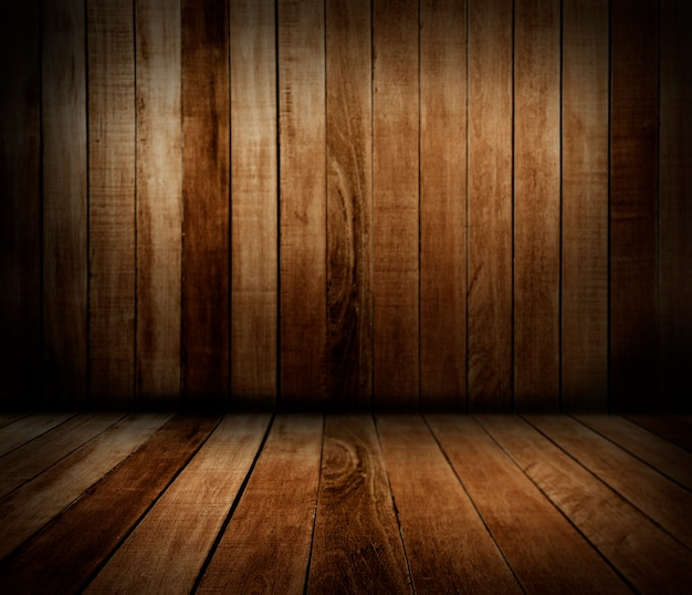 Wooden wall and floor Free Photo
