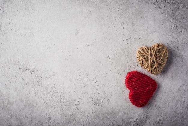 Wool hearts Free Photo