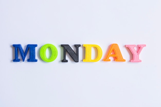 word monday made with colorful letters photo free download