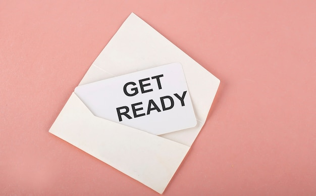 단어 쓰기 텍스트 분홍색에 카드 준비 프리미엄 사진