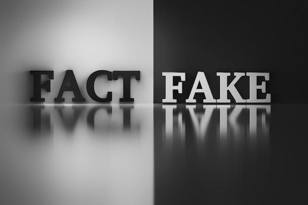 Words - fact and fake Premium Photo