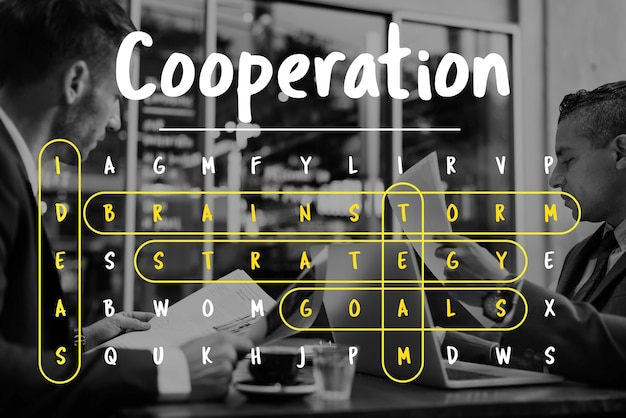 Wordsearch game word corporation business Free Photo