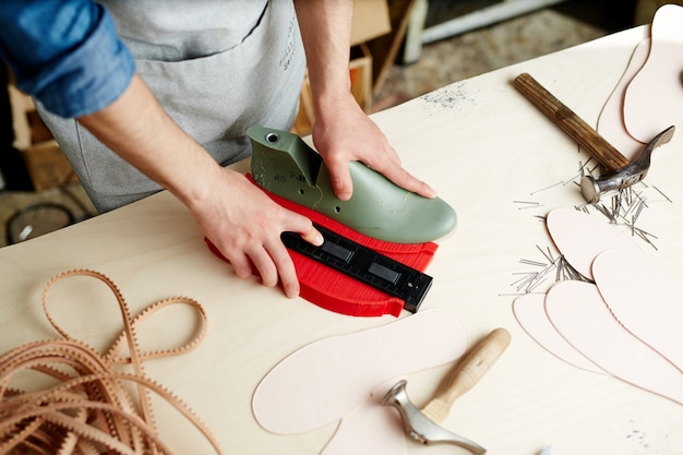 Work of cobbler Free Photo