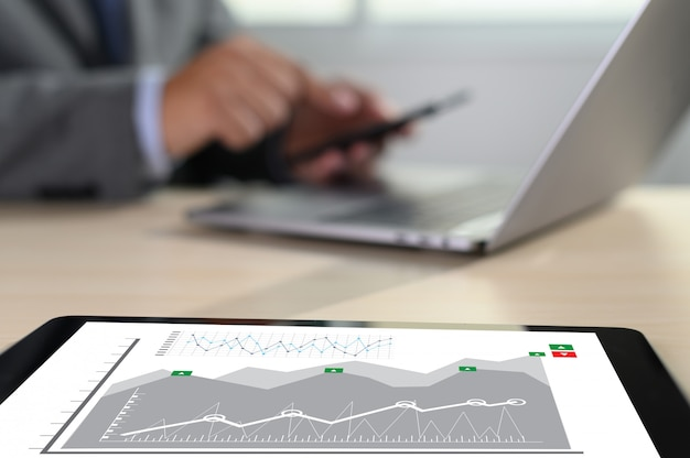 Work hard data analytics statistics information business technology Premium Photo