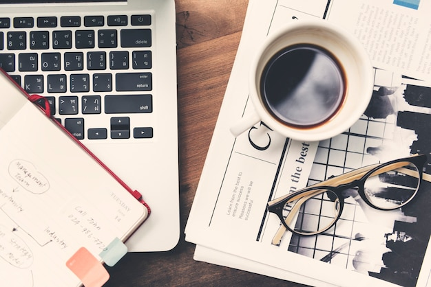 Work space business media concept Free Photo