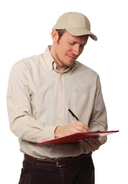 Worker on duty Premium Photo