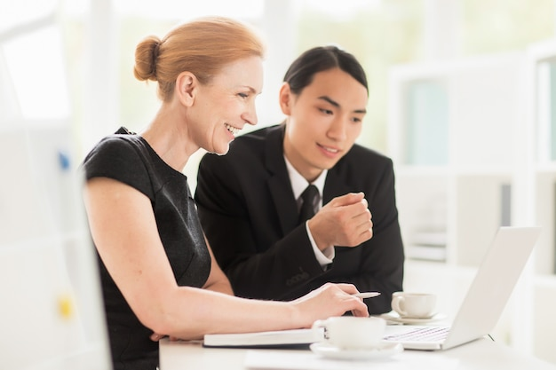 Working meeting in spacious boardroom Free Photo
