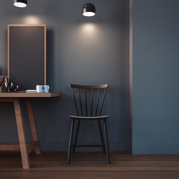 Working room & modern office interior / 3d rendering Photo