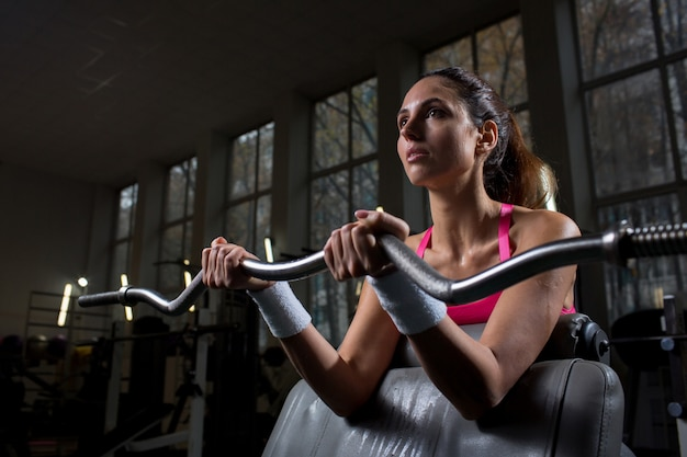Workout with weight Free Photo