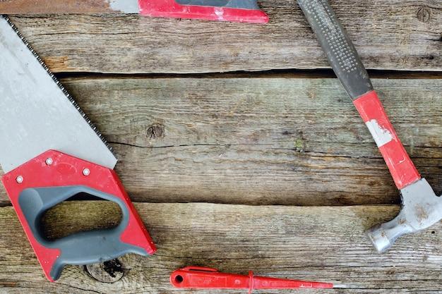 ワークショップ、修理。木製のテーブルのツール 無料写真