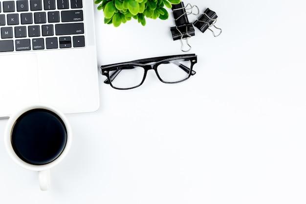 Workspace in office Premium Photo