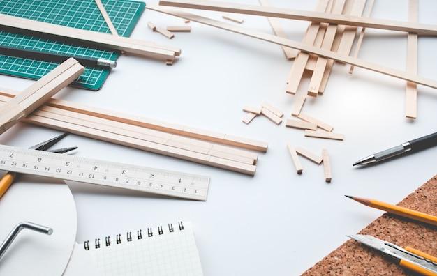 Рабочий стол из пробкового дерева Premium Фотографии