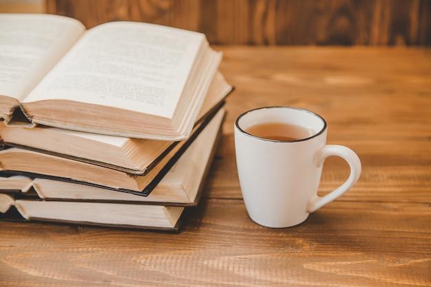 World book day. book background. selective focus. Premium Photo