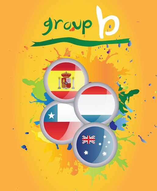 World cup group b vector Premium Photo