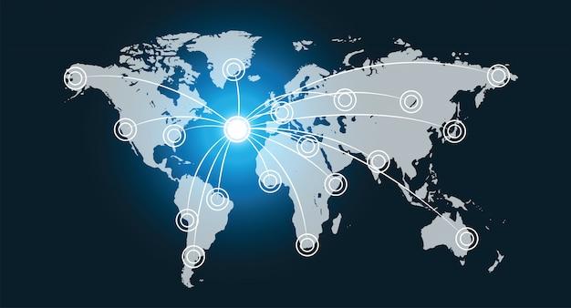 World data network interface Premium Photo