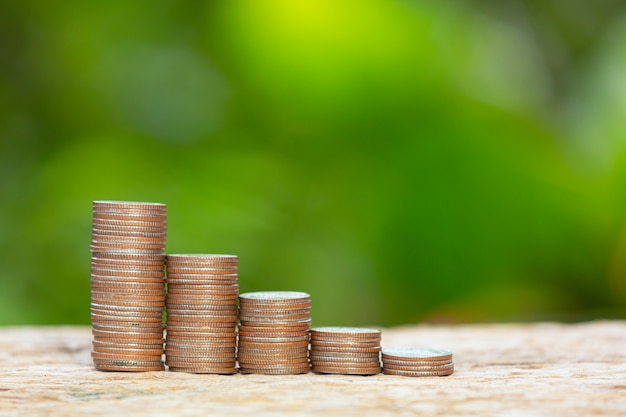 World habitat day,close up picture of a pile of coins Free Photo