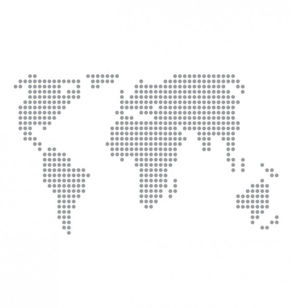 World map basic dots vector.