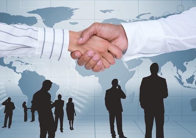 World panoramic business businessman relationship Free Photo