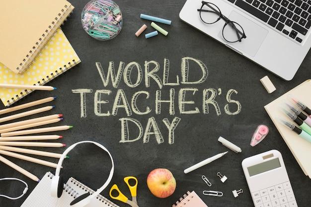 Celebrazione della giornata mondiale dell'insegnante Foto Gratuite