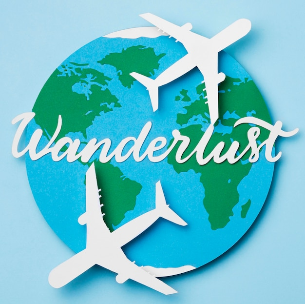 World tourism day with lettering Free Photo