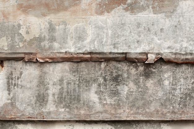 Worn wood with aged metal surface Free Photo