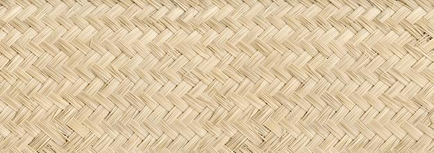 Тканые легкие бамбуковые циновки текстуры фона Premium Фотографии
