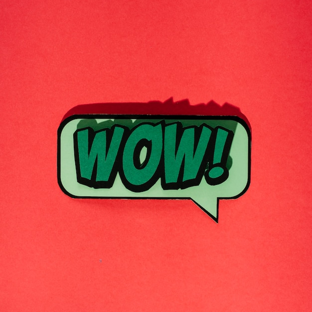 Wow message in pop art comic style Free Photo