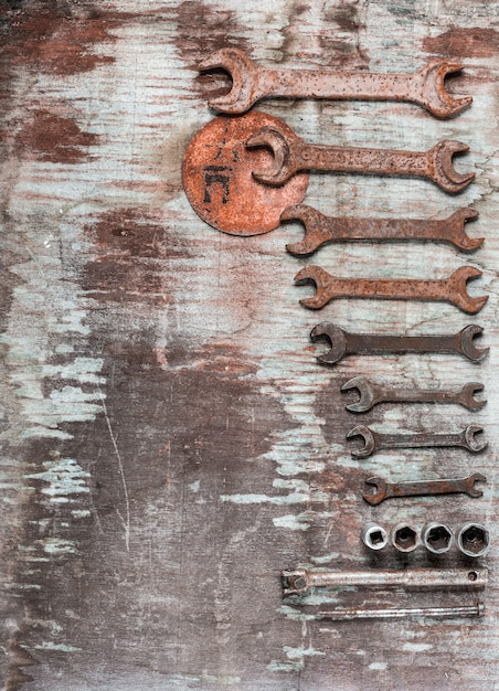 Wrenches, spanners set Free Photo