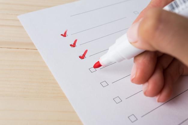 Writing to do list Premium Photo