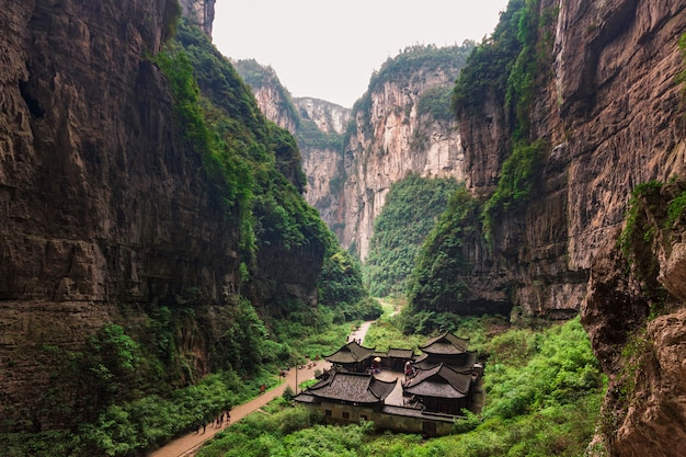 Wulong national park, chongqing, china Premium Photo