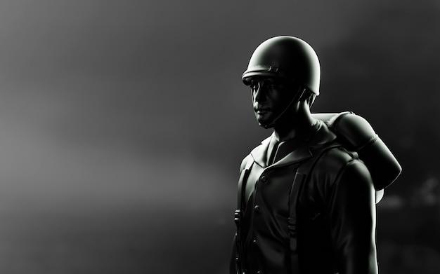 Ww2 american soldier. Premium Photo