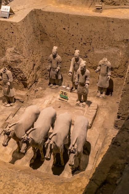 Сиань китайские воины терра котта Premium Фотографии