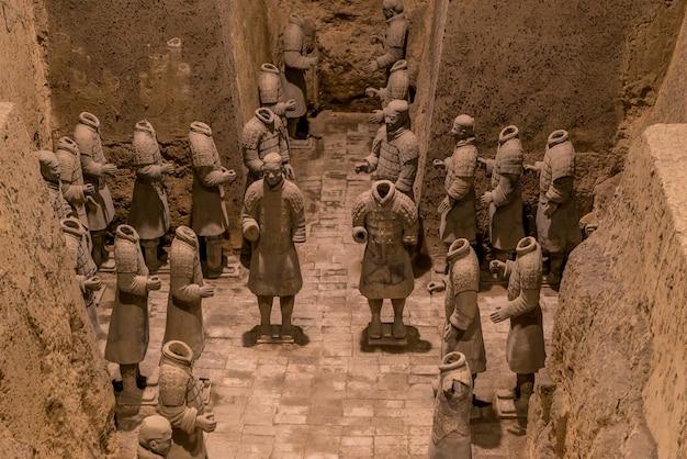 Сиань китай терракотовые воины Premium Фотографии