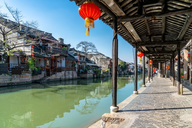 Xitang ancient town ancient residential river Premium Photo