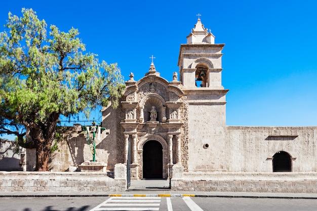 Yanahuara church in arequipa in peru Premium Photo