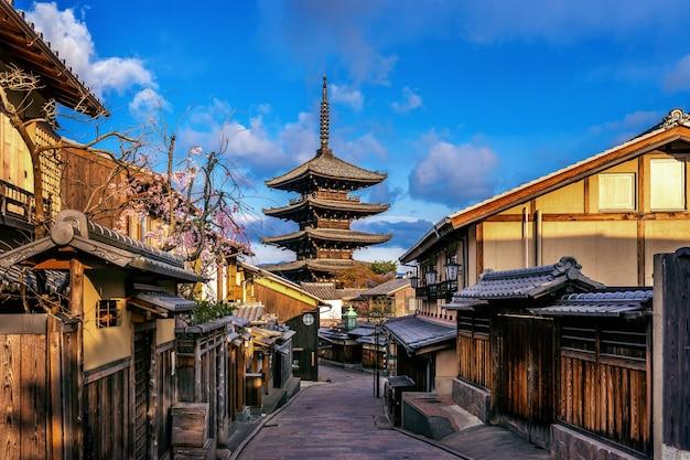 京都の八坂塔と産寧坂。 無料写真