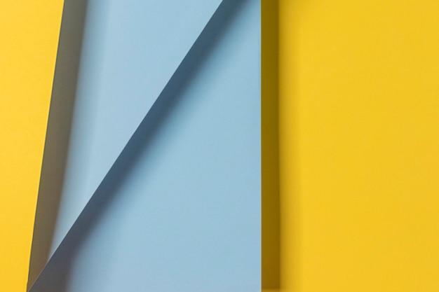 黄色と青の食器棚 無料写真
