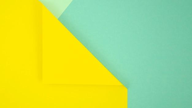 黄色と青の最小限の幾何学的形状と線 無料写真