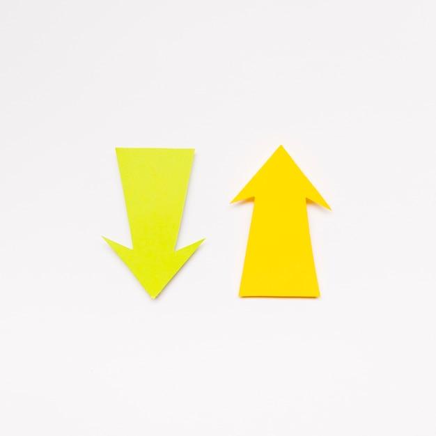 Yellow arrows sign Free Photo