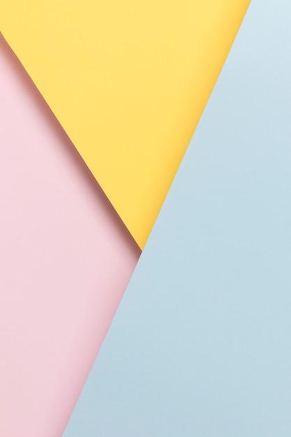 黄色の青とピンクの食器棚 無料写真