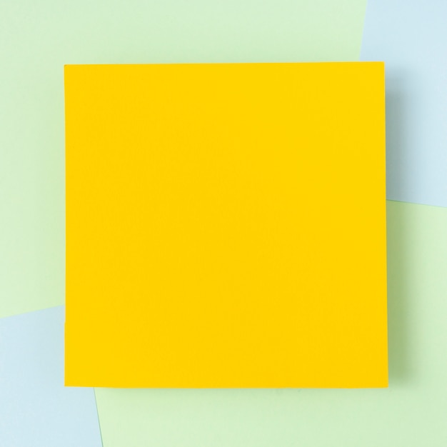 Yellow cardboard sheet mock-up Free Photo