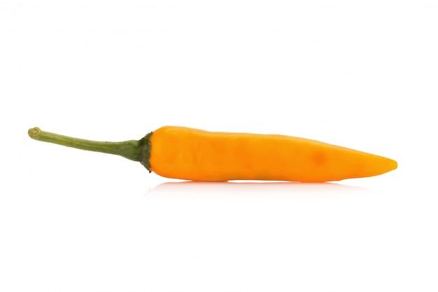 Yellow chili pepper isolated on white background Premium Photo