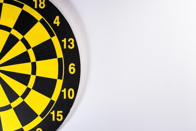 Yellow dart board Free Photo