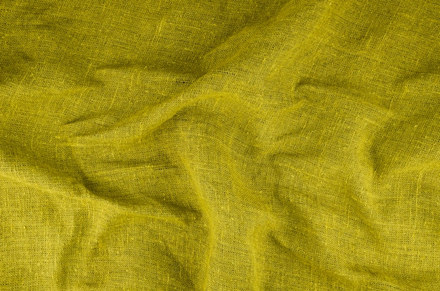 Yellow fabric textured material Free Photo