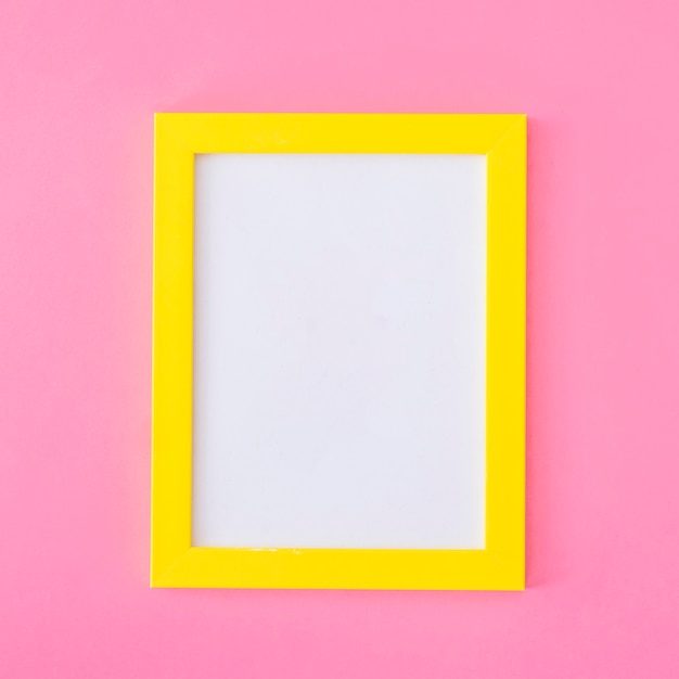 Yellow frame on pink Free Photo