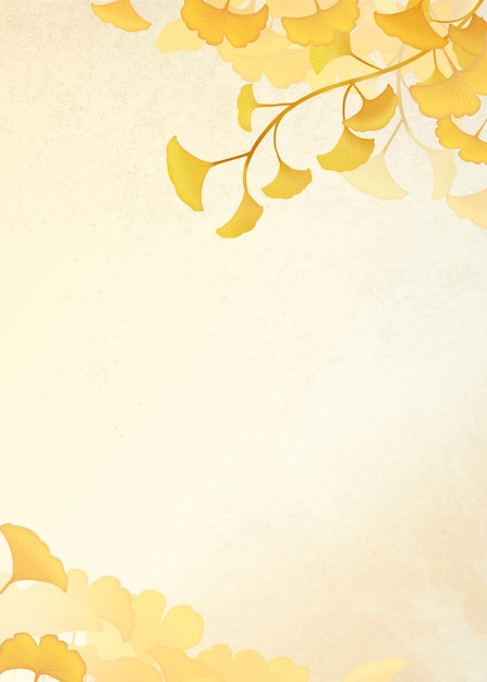 黄色い銀杏の葉を額装 無料写真